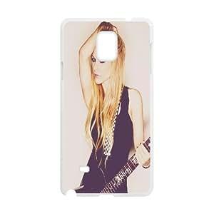Avril Lavigne Beautiful Girl Samsung Galaxy Note 4 Cases, Unique Design Samsung Galaxy Note 4 Case Luxury Stevebrown5v {White}