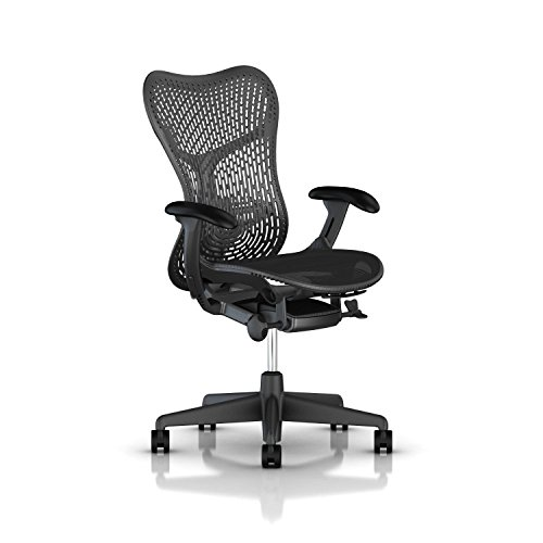 Herman Miller Mirra 2 Chair - Tilt Limiter and Seat Angle, TriFlex Back, Graphite - MRF123AWAPAJG1BBG1BK1A703