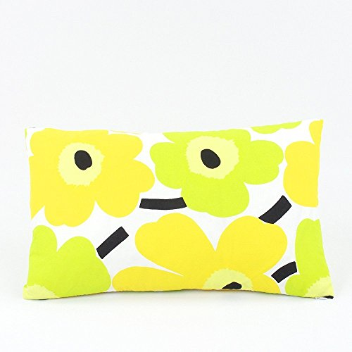 Marimekko Popping Poppies Floral Decorative Handmade Lumbar Pillow Cover, 12x20