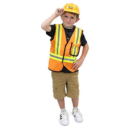 Construction Worker Children's Halloween Dress Up Theme Party Roleplay & Cosplay Costume, Unisex (S, M, L, XL) by Boo! Inc. (Youth Small (3-4))]()