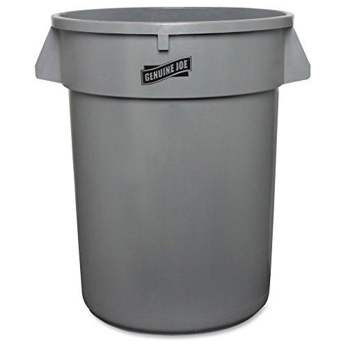 Honest Joe GJO60463 Plastic Heavy-Duty Trash Container, 32 gallon Capacity, Gray