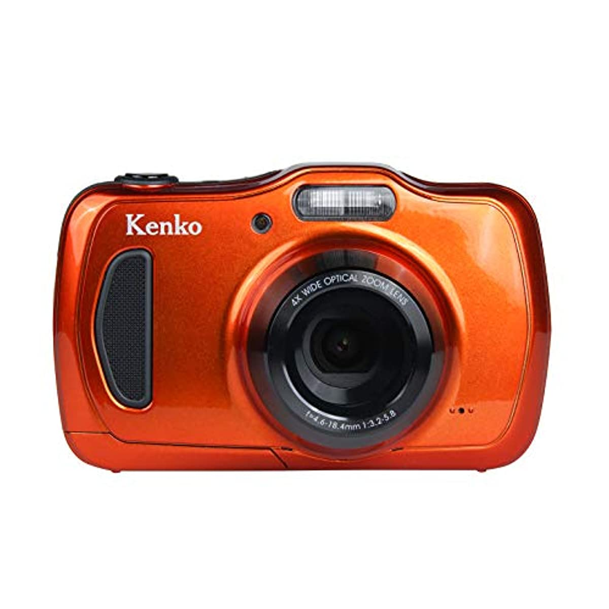 [해외] KENKO 디지털 카메라 DSC200WP 방진방수 IP58 2016만 화소 광학4배 줌 1M내 충격 오렌지 438589