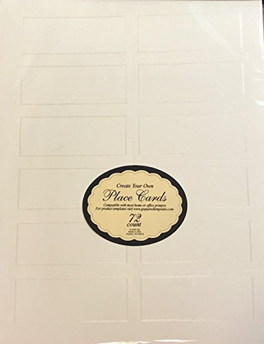amazon com 72 create your own place cards pearl shimmer on ivory