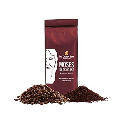 Moses Dark Roast - NO Char - Smooth Aftertaste Fresh Small Batch Roasted, Premium 100% Arabica Specialty Coffee