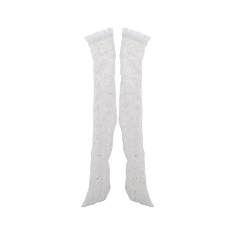 1//4 1//3 1//4 1//6 Encaje Medias Calcetines para BJD SD DOD Dollfie Ropa de Mu/ñecas Blanco