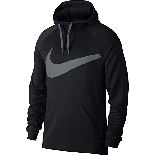 Men's Nike Dry Training Hoodie Black/Cool Grey Size Large