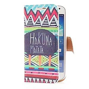 DUR Hakuna Matata Style Leather Case with Card Slot and Stand for Samsung Galaxy S4 Mini i9190