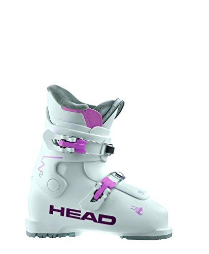 Head Mondo (HEAD kids girl's ski boots little kids alpine ski boots white/pink Head pair New Z2 2018 model boots (20.5 MONDO))