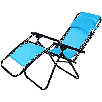 Ordinaire Lightweight Beach Chaise Chair Foldable Zero Gravity Pool Lounge Chairs  With Durable Mesh Fabric And Pillow