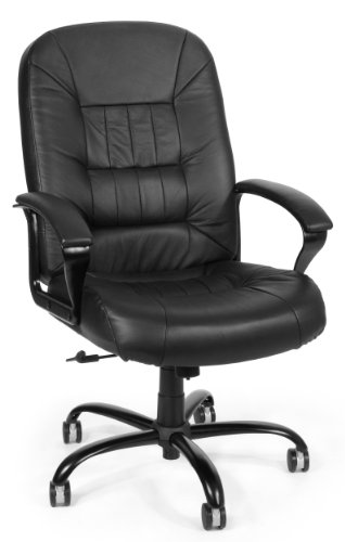 OFM Big and Tall Executive Chair - Leather Computer Chair with Arms (800-L)