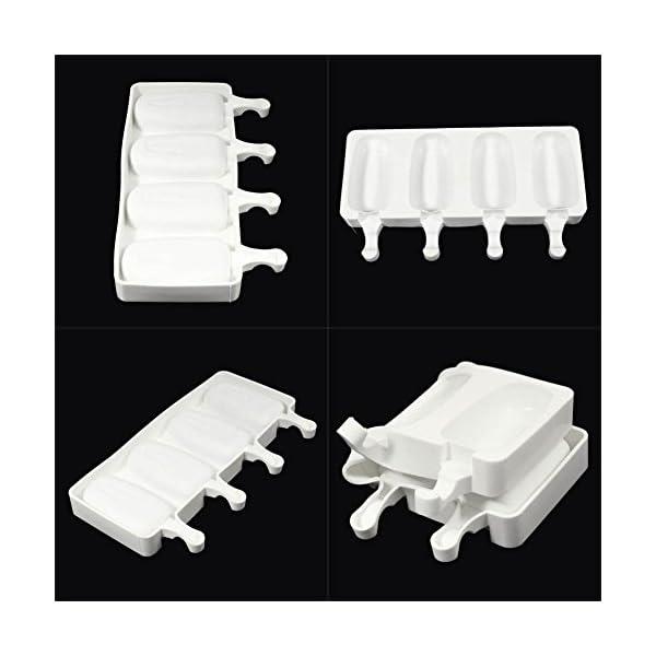 Crewell - Stampo per Gelato a 4 cavità, in Silicone, Antiaderente, per Dolci e Torte 7 spesavip