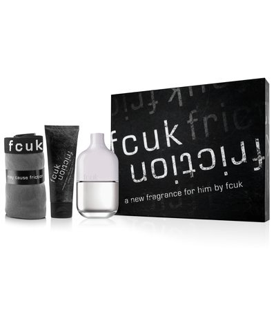 French Connection 3 Piece Fcuk Friction Fragrance Gift Set for Men by French - Sale Mens Fcuk
