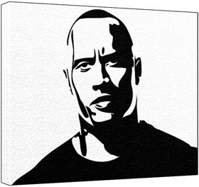 dwayne the rock johnson pop art painting 100 original