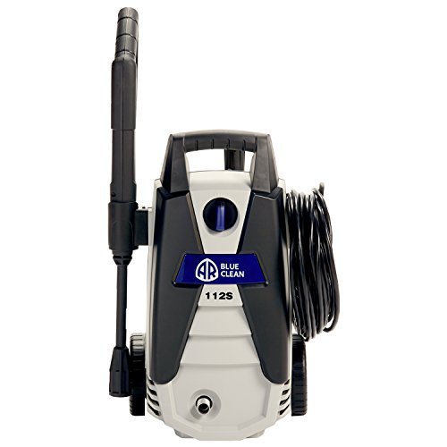 AR Blue Clean AR112S 1,500 PSI Electric Pressure Washer, Nozzles, Spray Gun, Wand, Detergent Bottle & Hose by Annovi Reverberi