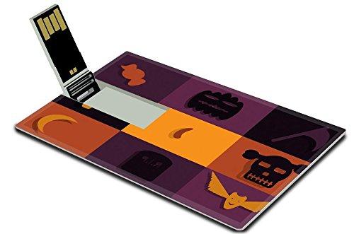 Luxlady 32GB USB Flash Drive 2.0 Memory Stick Credit Card Size Set icon Helloween flat design IMAGE 39881840