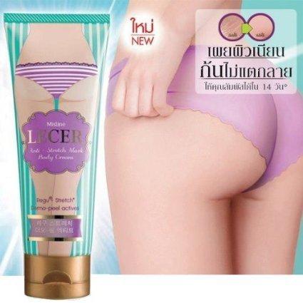 Mistine Lecer Cream Bikini Armpit Elbow Anti Stretch Mark Body Active Whitening 100 G. (Shirt Cream Dragon)