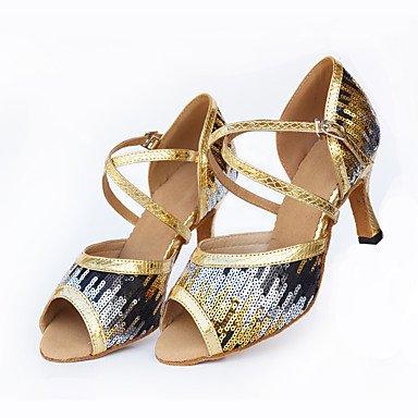 Blå hæle andet Dansesko Salsa latino Custom Sort Moderne tilpasses xRfTnqwp1