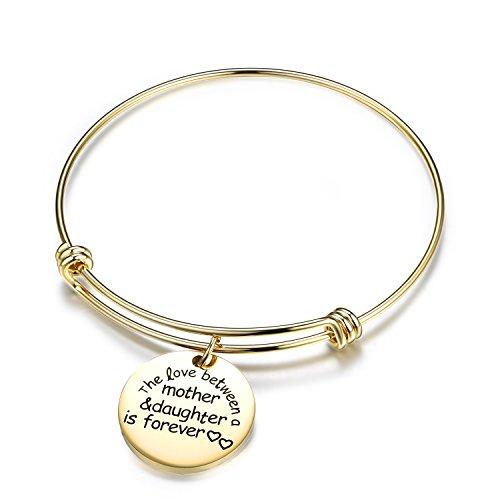 Gold Bangle Bracelets for Girl-Wire Cangle Cracelet Charms Adjustable Bangle Stainless Steel Bangle Bracelet Gold for Women