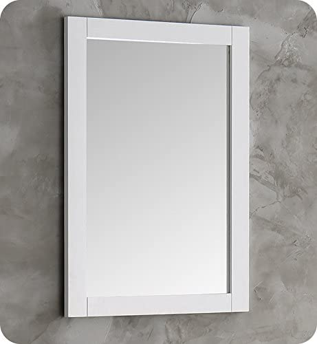 Fresca Hartford 20 White Traditional Bathroom Mirror
