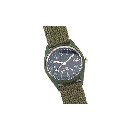 Rothco GI Type Vietnam Era Wind Up Watch, Olive Drab