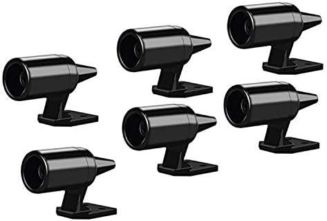 Moligh doll 4 Pcs Alerte De Cerf pour Les Vehicules Evite Les Collisions De Cerf Voiture Avertissement De Cerf Noir Avertissement Ultrasonique De La Faune pour Auto Moto Camion SUV Et ATV