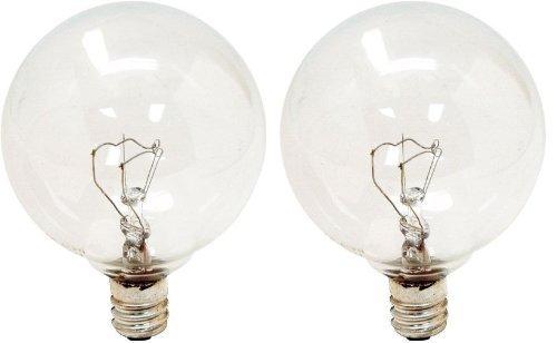 GE Lighting 17722 25 Watt Crystal Clear Vanity Globe Light Bulbs 2 Count - Crystal 25 Light