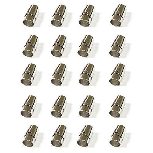 REVEW 20PCS Cord End Caps Bracelet End Caps Locking Bracelet Rope End Cap Cord Ends (8mm) 8 Mm Magnetic Clasps