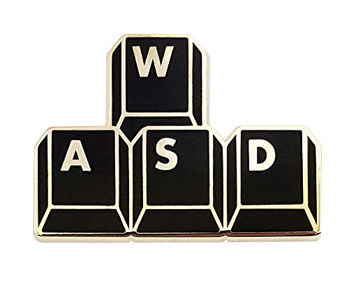 Pinsanity Gamer 'WASD' Keyboard Buttons Enamel Lapel Pin