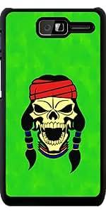 Funda para Motorola RAZR D1 (XT916) - Cráneo Del Nativo Americano