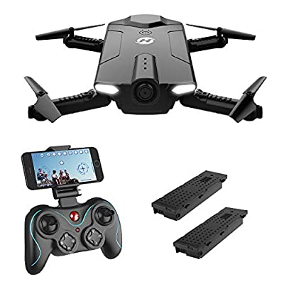 Holy Stone HS160 RC Drone with FPV Camera 720P HD Live Video Feed 2.4GHz 6-Axis Gyro Foldable Quadcopter for Kids & Adults, Selfie Drone with Altitude Hold, One Key Start Function, and Bonus Battery from Holy Stone