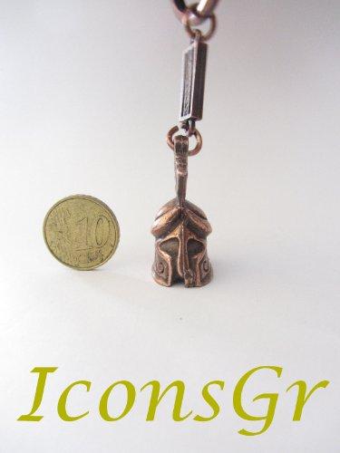 Ancient Greek Zamac Keyring with Athenian Helmet - Copper Color 2 (Key Athenian)