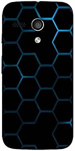 Snoogg Honeycomb Systemology Designer Protective Back Case Cover For Moto-G