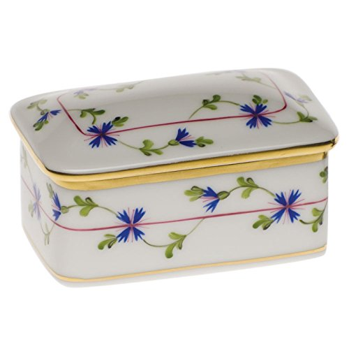 - Herend Blue Garland Covered Box
