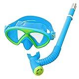 YITU Kids Silicone Scuba Swimming Swim Diving Mask Snorkel Glasses Set Anti Fog