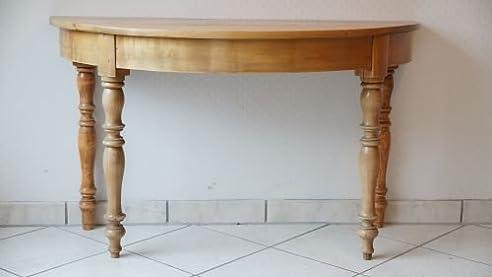 Beistelltisch antik halbrund  Beistelltisch Halber Tisch Halbrund Kirsche Anrichte Antik Massiv ...