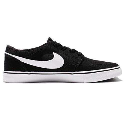Nike Mens SB Portmore II Solar CNVS Black White Size 10 ()