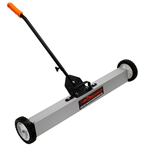 Neiko 53416A Magnetic Pick-Up Sweeper with Wheels 30 Lb, 24"