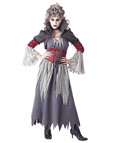 Summitfashions Edwardian Banshee Gothic Costume Goth Queen Dead Death Dark Sizes: Small ()