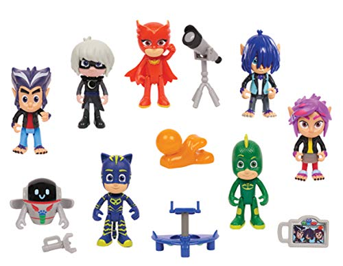 PJ Masks Deluxe 14 Pack Figure Set -Brown Mailer