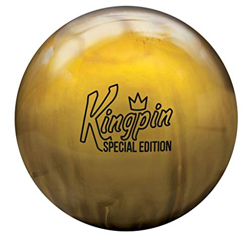 Brunswick Bowling Products Kingpin Special Edition Bowling Ball- Pearl 14lbs, Gold, 14