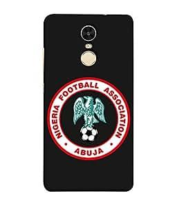 ColorKing Football Nigeria 03 Black shell case cover for Xiaomi RedMi Note 5