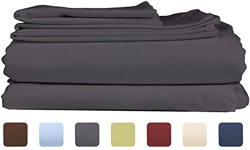 Queen Size Bed Sheets (Queen Size Sheet Set - 6 Piece Set - Hotel Luxury Bed Sheets - Extra Soft - Deep Pockets - Easy Fit - Breathable & Cooling Sheets - Wrinkle Free - Dark Gray - Grey Bed Sheets - Queens Sheets - 6 PC)