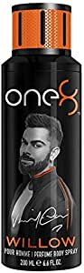 One 8 WILLOW Perfume Body Spray For Men, 200 ml