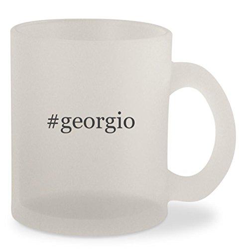 #georgio - Hashtag Frosted 10oz Glass Coffee Cup - Georgio Amani