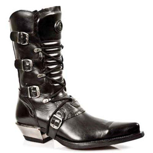 New Rock Boots - Hombre Botas Estilo 7993 S1 Negro