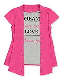 "Dream Star Little Girls' ""Life Rules"" Layer Top"