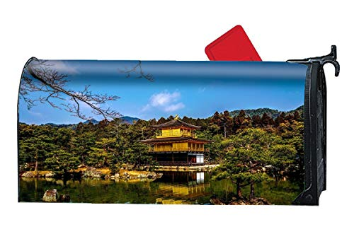 Custom Magnetic Mailbox Cover Mail Wrap for Standard Mailboxes Cover-Kinkaku-ji Temples Kyoto Japan