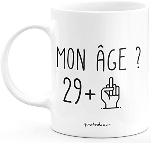 Mug 30 Ans Rigolo drôle – Tasse Cadeau Anniversaire trente ans trentaine Homme Femme Humour Original