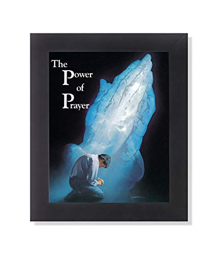 The Power of Prayer Praying Hands Religious Wall Picture Framed Art Print