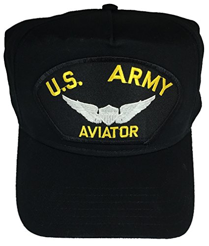 U.S. ARMY AVIATOR W/ WINGS HAT - BLACK - Veteran Owned Business